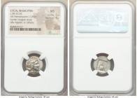 LYCIAN LEAGUE. Masicytes. Ca. 48-20 BC. AR hemidrachm (16mm, 1.89 gm, 1h). NGC MS 5/5 - 4/5. Series 1. Laureate head of Apollo right; Λ-Y below / M-A,...