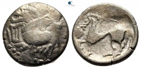 Eastern Europe. Imitation of Philip II of Macedon 200-100 BC. Drachm AR