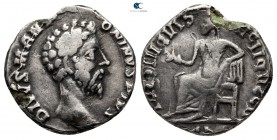 Eastern Europe. Imitation of Divus Marcus Aurelius AD 160-180. Fourrée Denarius
