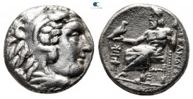 Kings of Macedon. Sardeis. Philip III Arrhidaeus 323-317 BC. In the name and types of Alexander III. Struck under Menander, circa 323/2 BC. Drachm AR