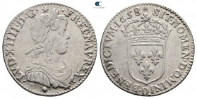 France. Louis XIV 'the Sun King' AD 1643-1715. Struck 1658. 1/12 Ecu