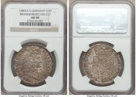 Brandenburg. Friedrich III 2/3 Taler 1689-LCS AU58 NGC, Berlin mint, KM557. Original gray patina throughout.  HID09801242017