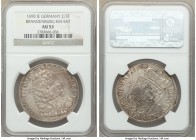 Brandenburg. Friedrich III 2/3 Taler 1690-IE AU53 NGC, Magdeburg mint, KM557. Grainy surface toning and crisp details throughout.  HID09801242017