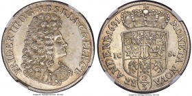 Brandenburg. Friedrich III 2/3 Taler 1691-ICS AU58 NGC, Magdeburg mint, KM557. This example displays a strong, even strike with only touches of wear. ...