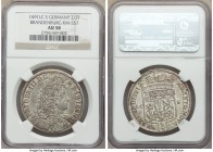 Brandenburg. Friedrich III 2/3 Taler 1691-LCS AU58 NGC, Berlin mint, KM557. A well struck example with minor wear on the high points.  HID09801242017