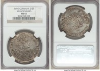 Brandenburg. Friedrich III 2/3 Taler (Gulden) 1695-LCS MS61 NGC, Berlin mint, KM556. Deep gray patina with full mint luster.  HID09801242017