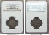 Brandenburg. Friedrich III silver 2 Ducat Medal 1688 MS62 NGC, Brockmann-311, Kill-2010. Very attractively toned with subtle underlying iridescence.  ...
