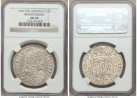 Cleves. Friedrich III 2/3 Taler 1692-WH AU58 NGC, Emmerich mint, KM36.2.2. Dav-282. Original luster with just the slightest of wear keeping the grade ...