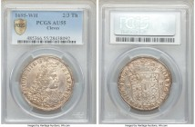 Cleves. Friedrich III 2/3 Taler 1695-WH AU55 PCGS, Emmerich mint, KM36.2.2. Lustrous example with light peach toning.  HID09801242017