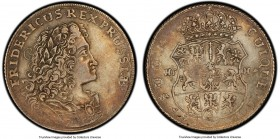 Prussia. Friedrich I 2/3 Taler 1703-HFH XF45 PCGS, Magdeburg mint, KM43. Light terracotta hues throughout.  HID09801242017