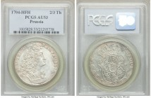 Prussia. Friedrich I 2/3 Taler 1704-HFH AU53 PCGS, Magdeburg mint, KM43, Dav-292. Bright white appearance with slight surfaces hairlines.  HID09801242...
