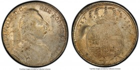 Prussia. Friedrich Wilhelm I 2/3 Taler 1718-IFS AU50 PCGS, Berlin mint, KM160. Although slightly worn, the luster still peeks through the patina of th...