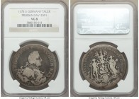Prussia. Friedrich II Taler 1751-ICM VG8 NGC, Dav-2591, Sch-1651, Old-368. Issued for the Royal Prussian Asiatic Society. Although evenly worn, detail...