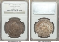 Prussia. Friedrich II Taler 1781-A AU55 NGC, Berlin mint, KM332.1, Dav-2590. Deep russet toning on the obverse while the reverse retains a mostly ligh...
