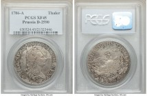 Prussia. Friedrich II Taler 1786-A XF45 PCGS, Berlin mint, KM332.1, Dav-2590. Details are rather defined while surface tones remains more muted.  HID0...