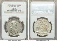 Prussia. Friedrich Wilhelm II Taler 1793-B AU55 NGC, Bayreuth mint, KM360.2, Dav-2599A. Light olive tones throughout with slight wear on the high poin...