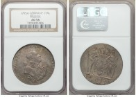Prussia. Friedrich Wilhelm II Taler 1795-A AU58 NGC, Berlin mint, KM360.1. Although the tones are muted, the details are still visible and shown stron...