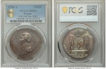 Prussia. Friedrich Wilhelm III Taler 1798-A MS64 PCGS, Berlin mint, KM368, Dav-2603. Deep gray patina with a crisp strike, highly desirable in this gr...