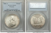 Prussia. Friedrich Wilhelm III Taler 1802-A MS64 PCGS, Berlin mint, KM368. Shimmering cartwheel luster. Tied with two others at NGC at the MS64 level,...