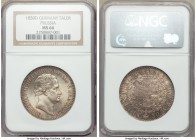 Prussia. Friedrich Wilhelm III Taler 1830-D MS66 NGC, Aurich mint, KM419. Brilliant mint luster with light gray toning throughout. An exceptional piec...