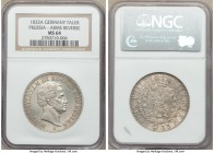 Prussia. Friedrich Wilhelm III Taler 1833-A MS64 NGC, Berlin mint, KM419. An overall pleasing coin that any collector would appreciate.  HID0980124201...