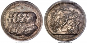 "Prussia. Friedrich Wilhelm III silver ""100th Anniversary of Prussia"" Medal 1801 MS63 NGC, Wurzb-2969. 55mm. By Loos. An important medal struck for the..."