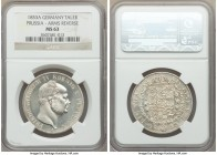 Prussia. Friedrich Wilhelm IV Taler 1853-A MS63 NGC, Berlin mint, KM466. Beautifully contrasting fields accompanied by a crisp striking.  HID098012420...