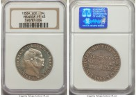 "Prussia. Friedrich Wilhelm IV Proof ""Mining"" Taler 1856-A PR63 NGC, Berlin mint, KM466. Reflective fields and frosted devices.  HID09801242017"