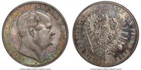 Prussia. Friedrich Wilhelm IV Taler 1861-A MS65 Prooflike PCGS, Berlin mint, KM471. Beautifully mirrored surfaces with light smoky tones throughout wi...
