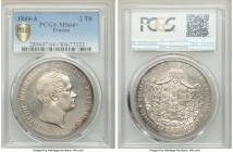 Prussia. Friedrich Wilhelm IV 2 Taler 1844-A MS64+ PCGS Berlin mint, KM440.2. Choice for the grade featuring glassy fields and a bold strike that is v...