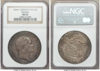 Prussia. Friedrich Wilhelm IV 2 Taler 1844-A MS63 NGC, Berlin mint, KM440.2. Glossy, slate gray surfaces with slight shades of gold and blue throughou...