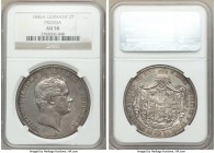 Prussia. Friedrich Wilhelm IV 2 Taler 1846-A AU58 NGC, Berlin mint, KM440.2. Immense detail and original patina.  HID09801242017