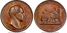 Prussia. Friedrich Wilhelm IV bronze Medal 1840 MS65 Brown NGC, Marienburg-2583. 41 mm. By H. Lorenz. Crisp details throughout with a light mahogany c...