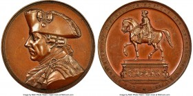 "Prussia. ""Frederick the Great"" bronze Medal 1851 MS63 Brown NGC, Marienburg-4253. 38mm. Muted chocolate color.  HID09801242017"