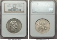 Prussia. Wilhelm I Taler 1861-A MS64 NGC, Berlin mint, KM489. Old head type. Near gem example.  HID09801242017
