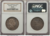 "Prussia. Wilhelm I Proof ""Mining"" Taler 1862-A PR65 NGC, Berlin mint, KM490. An alluring gem that displays an overall even gray tone.  HID09801242017"