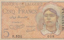Algeria, 5 Francs, 1944, VF, p94a