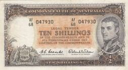 Australia, 10 Shillings, 1961/1965, XF, p33a