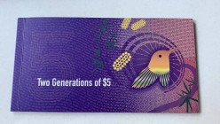 Australia, 5 Dollars, Two Generations of 5$, FOLDER, Total 2 banknotes