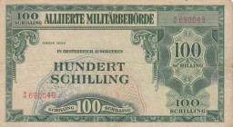 Austria, 100 Shillings, 1944, FINE, p110