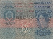 Austria, 20 Kronen, 1913, p13, Total 3 banknotes