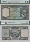 Afghanistan: 100 Afghanis SH1318 ND(1939), P.26a in UNC, PMG graded 64 Choice Uncirculated EPQ