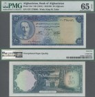 Afghanistan: Bank of Afghanistan 20 Afghanis SH1336 ND(1957), P.31d, perfect condition, PMG graded 65 Gem Uncirculated EPQ.