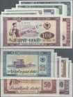 Albania: Specimen set with 1, 3, 5, 10, 25, 50 and 100 Leke 1976, P.40s-46s, all in UNC condition. (7 pcs.)