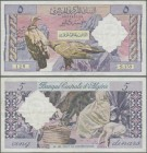 Algeria: 5 Dinars 1964, P.122, tiny pinholes and several folds, condition: F+/VF