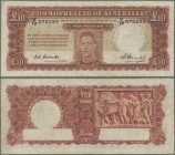 Australia: Commonwealth Bank of Australia 10 Pounds ND(1940-52) with signatures: Coombs & Watt, P.28c, still nice with a number of folds and creases a...