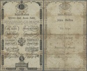 Austria: Wiener Stadt-Banco-Zettel10 Gulden 1806, P.A39, small border tears, tiny holes at center and toned paper. Condition: F-