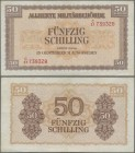 Austria: Lot with 50 banknotes Austria 50 Schilling 1944, Allied Occupation WW II, P.109 in VF-XF condition. (50 pcs.)