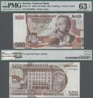 Austria: Oesterreichische Nationalbank 500 Schilling 1985, P.151 with portrait of Otto Wagner, great uncirculated condition and PMG graded 63 EPQ.