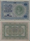 "Austria: Donaustaat with Lottery overprint on 1000 Schilling 1925 P. S155b, after WWI the state ""Donaustaat"" was planned in central Europe. Currency w..."